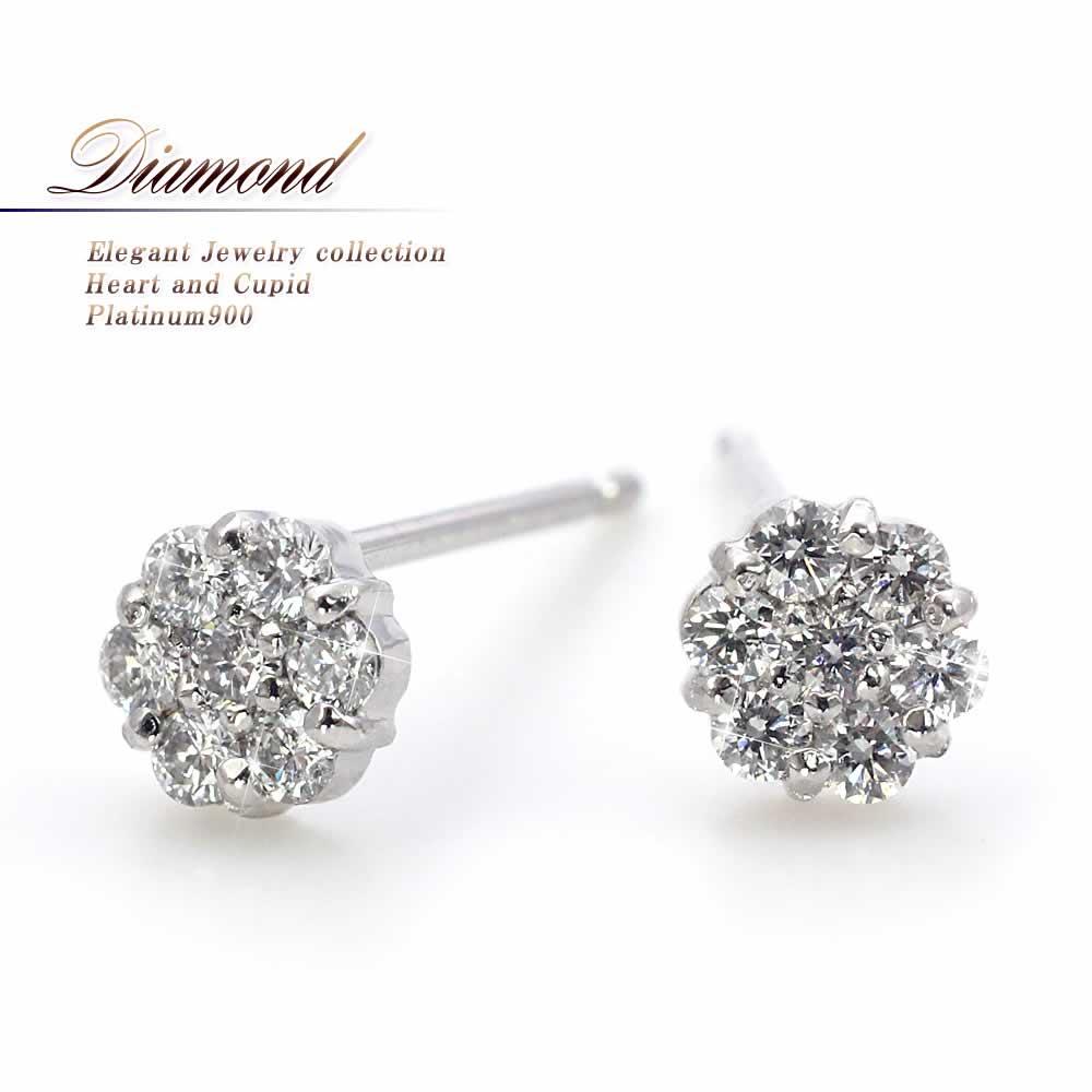 プラチナPt900×ダイヤモンドのピアス