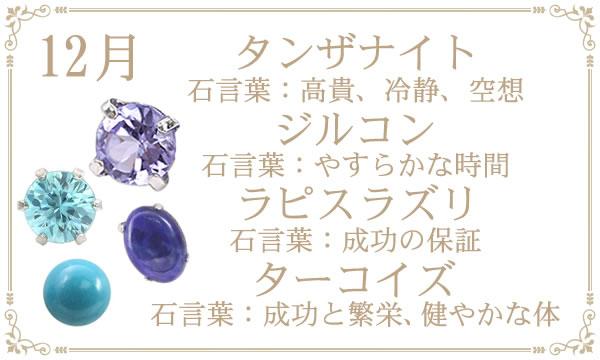 12月の誕生石タンザナイト・ターコイズ(トルコ石)